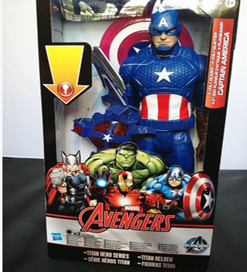 Captain America action PVC The Avengers figures super hero toy doll baby  Captain America superman Emitting Shield Free Shipping<br><br>Aliexpress