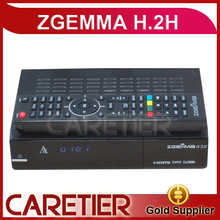 5pcs Best Sale Zgemma H.2H Satellite Receiver HD 2.0 Original Linux OS Enigma2 DVB-S2+DVB-S2 Twin Tuner DHL(China)
