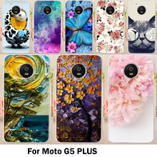 Cases For Motorola Moto G5 Plus Cover XT1687 XT1684 XT1685 5.2 inch Cell Phone Bag Lovely Minions Hard Soft TPU Skin Housing