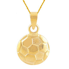 3D Soccer Necklace Women Sports Necklace Gold Color Football Pendant Necklaces Sports Team Jewelry Coach Gift