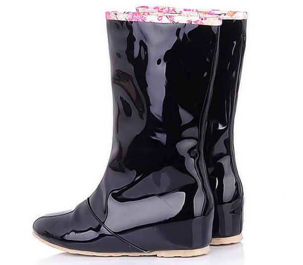 2017 New Arrived Fashion Height  Increased Leisure Rainboots Boots Female 2 Ways Wear Rubber Rain Boots Plus 43size<br><br>Aliexpress