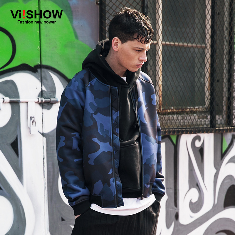 VIISHOW Jacket Men Winter Coat Casual Long Sleeve Camouflage Coat Jacket Windbreaker Plus Size M-3XL JC98963