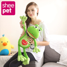 66cm kawaii frog plush toys with tie Sheepet soft classic toys game lovely gift for kids(China)