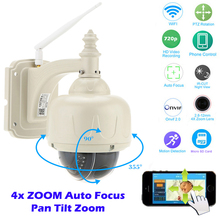 OwlCat PTZ IP Camera Wireless Speed Dome Camera Wifi Outdoor Security CCTV HD 720P 2.8-12mm Auto Focus 4X Zoom SD Card ONVIF