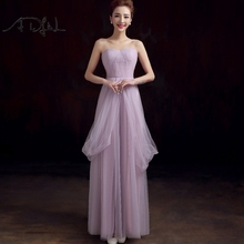 ADLN 2017 In Stock Convertible Bridesmaid Dresses Long Wedding Guest Gowns Lilac Maid of Honor Dress Under 50