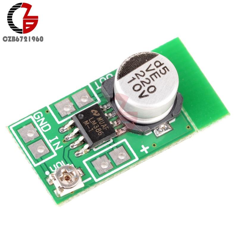 High Efficiency DC 3V-12V 5V Adjustable MINI LM386 Ultra-miniature Electret Audio Power Amplifier Board Micro Amp Module 4