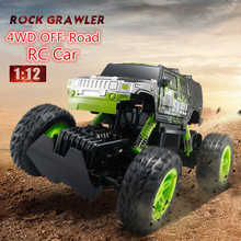 Children RC toy D810/D811 2.4G 1:12 sacale 4WD electric driving off road radio control kart rock crawler car toy truck vehile(China)