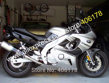 Hot Sales,For Yamaha YZF600R  Thundercat YZF-600R YZF 600R 97 98 99 00 01 02 03 04 05 06 07 Silver Black Motorcycle fairing Kit