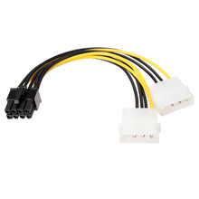 High Quality 16cm 8 Pin to 4 Pin 1 to 2 Spliter Power Cable PCI Express Video Card  Pci-e ATX PSU Power Converter Cable Adapter
