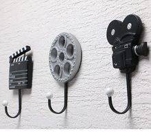 3psc Vintage Movie Props Decorative Hat Coat Cloth Wall Door Hanger Hooks