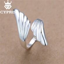 SALE Hot  Promotion silver  Fashion Ring Angel Wing Ring women lady Party Feather Wing party cute  Factory Direct Sale CYPRIS