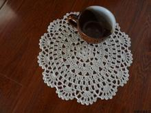 Elegant design 18 cm 7 inch 6 pic/lot 100% cotton knitted luxury lace doily as household item innovative home cup pads props(China)