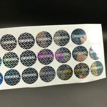 5000pcs Laser Hologram ORIGINAL Sticker 15mm Round Security Tamper Evident Warranty Anti-fake Stickers(China)