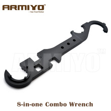 Armiyo 8-in-one Combo Wrench Tool Barrel Nut / Butt Stock Tube / Flash Hider etc. Hunting Gun Accessories(China)