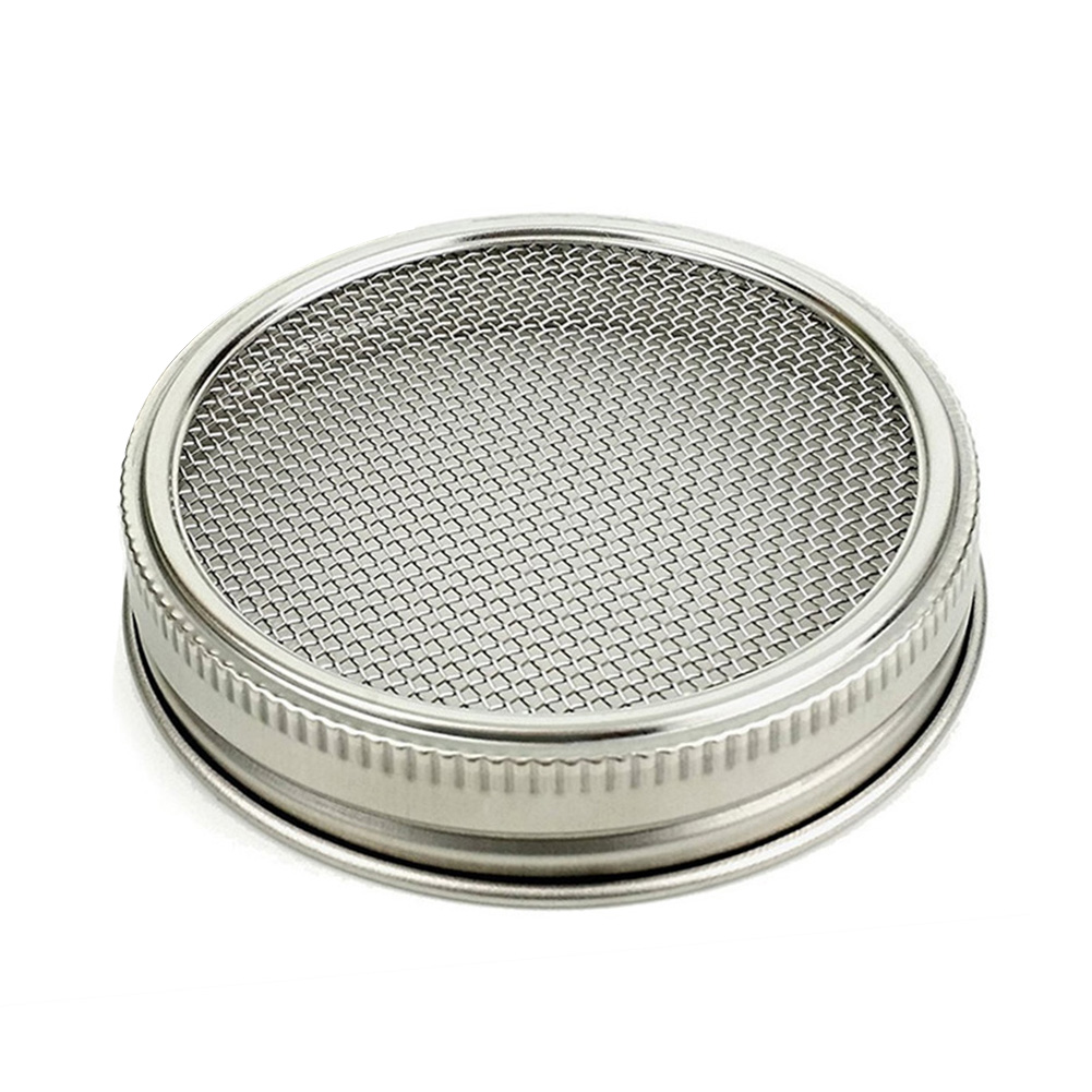 Sprouting Jar Wide-Mouth-Lid-Kit Gift Curved-Mesh Stainless-Steel for Durable Healthy