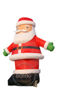 X073 6m hight Attractive large outdoor christmas decoration commercial inflatable santa claus with blower