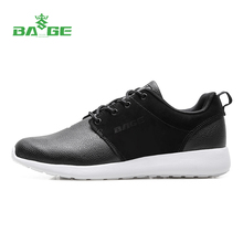 2016 New Bage Newest Men Winter Leather Running Shoes Lace-Up Outdoor Damping Sport Sneakers for Men Breathable Sport Shoes Men