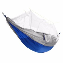 Best Deal Portable Double Mosquito Net Hammock Tent Swing Bed 2 Person Hanging Sleeping Bed Travel Camping Tent Accessories(China)