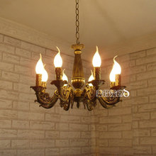Modern Chandelier Light Antique Iron Brass Color Lighting Modern decoration Lamp Iron Chandelier for Ceiling Chandeliers(China)