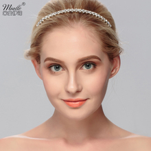 Miallo Rhinestone Wedding Crown Tiaras Crystal Headpiece Silver Bridal Crown Clear Rhinestone Headband Crystal Crown Jewelry