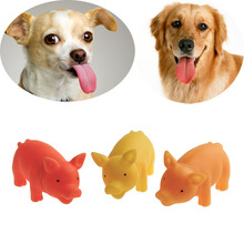 Nice 1 pc Chew Squeaker Squeaky Rubber dog toys for large dogs Pet Supplies Sound screaming Pig For Dog jouet pour chien