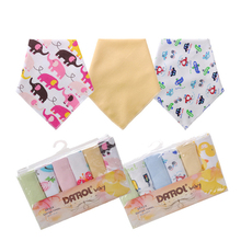 6Pcs/Set Baby Cotton Soft Small Square Solid Towel Baby Feeding Towel Baby Handkerchief #237351