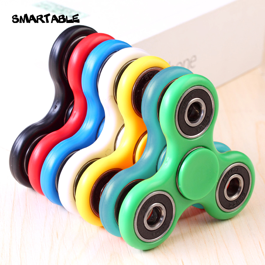 Smartable toys fidget spinner 6 colors Perfect size suitable Adults kids ADD & ADHD Sufferers Helps Relieve Stress