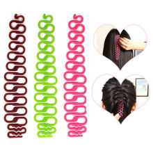 2PCs New Fashion Women Girls DIY Hair Accessories Styling Clip Stick Three colors random  Wedding Party Bun Maker Braid Tools