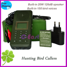 20W speaker + 2200mah battery Goose duck bird hunting sound mp3 player digital hunting bird caller wild animals hunting decoy