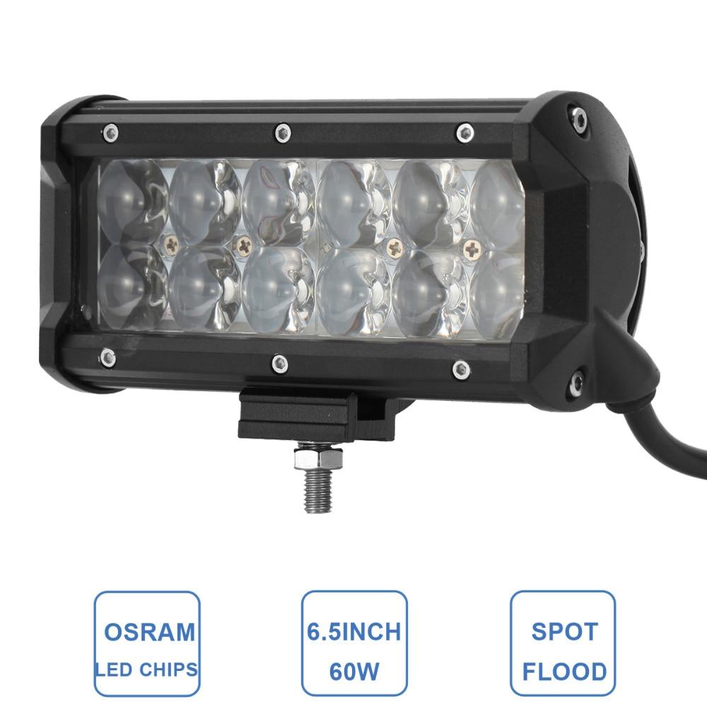 60W Offroad LED Work Light Bar Car ATV Trailer Camper Motorcycle Truck 4x4 4WD Auto Bumper Driving Fog Lamp 12V 24V Headlight<br><br>Aliexpress