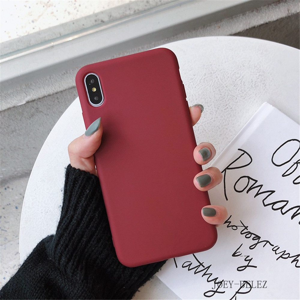 Matte Phone Cases For iPhone 7 Candy Case For iPhone X 7 6 6S 8 Plus 6 6S Case Cover XR XS MXA Coque Silicon Fundas Capa Carcasa23