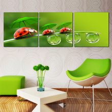 Flower Canvas Print Wall Paintings Oil Art Pictures Modular Painting On Bilder Modern 3 Piece Decoration Maison Home Picture