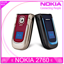 Nokia 2760 original cellphone unlocked phones with camera support russian keyboard and russian menu(China)