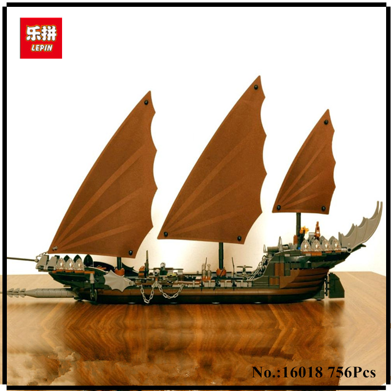 IN STOCK Lepin 16018 756pcs Genuine New The lord of rings Series The Ghost Pirate Ship Set Educational Building Block Brick Toys<br>