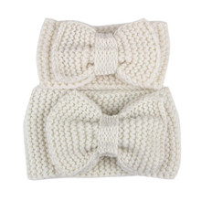 Buy direct from China 2PC Mother And cute Hairbands Bowknot Knit Headband Crochet Hairband Headwrap acessorios de cabelo