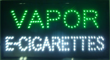 20 pcs/lot factory custom neon signs led neon vapor e-cigarettes sign eye-catching slogans board led open sign(China)