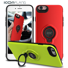 Ring Case for iPhone6, 360 Rotate Ring phone case for iphone 6 6s Plus mobile phone cover for iphone 6 6 Plus by ICONFLANG