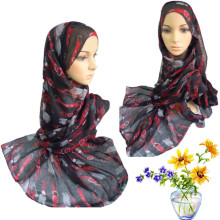 S035 Retail sale Islamic women Scarf Plain Voile Big Size Hijab jilbabs Black scarf discount sale Promotion  Muslim scarf