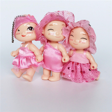 Cute Adorable Kelly Mini Pink Princess Baby Doll Children Girl Birthday Gift Bag Chain DIY Decoration