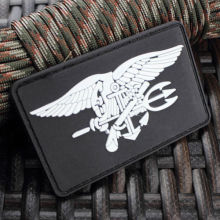 US NAVY SEAL TEAM TRIDENT LOGO 3D PVC TACTICAL ARMY MORALE RUBBER PATCH(China)