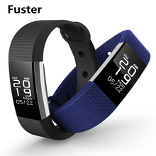 Fuster Support Whatsapp and Facebook Message Reminder Smart Band Fitness Heart Rate Monitor Bluetooth Smart Bracelet Waterproof(China)