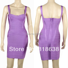 free shipping spaghetti straps sweatheart cross over yellow bandage dresses 2014 party dress  lilac .orange.red.black.white
