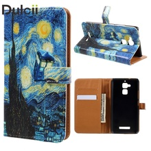 for Asus Zenfone3 Max ZC520TL Cases Wallet Leather Stand Case for Asus Zenfone 3 Max ZC520TL - Starry Night Sky