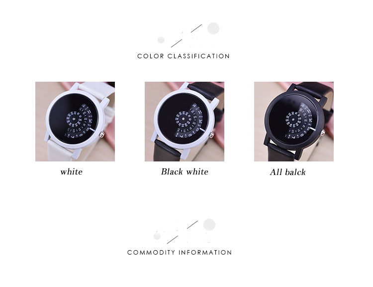 17 BGG creative design wristwatch camera concept brief simple special digital discs hands fashion quartz watches for men women 13