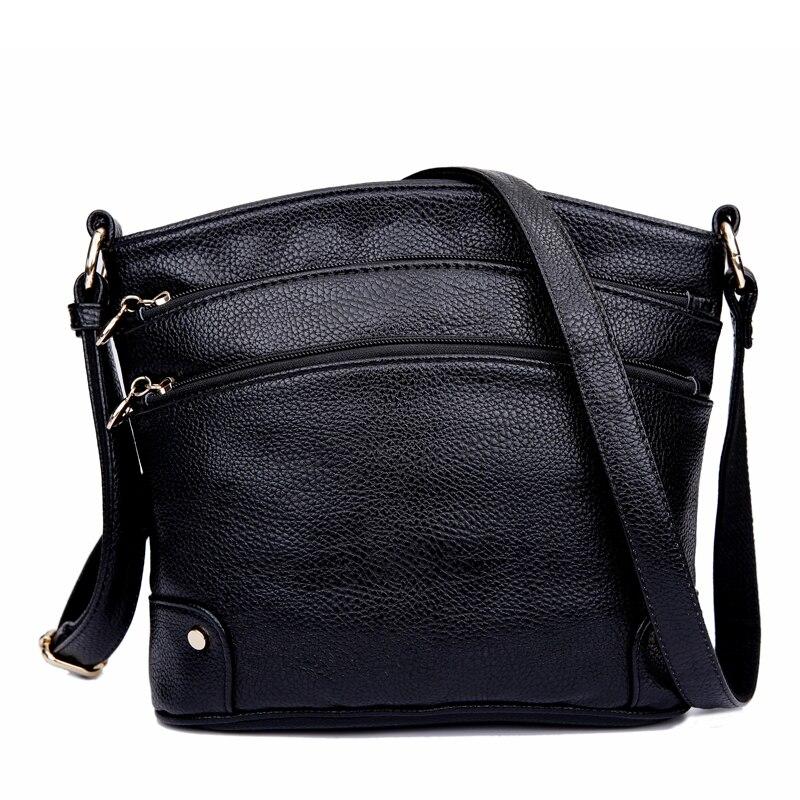 Genuine Leather Ladies Handbag Womens Messenger Bags Zipper Crossbody Travel Bags For Women Single Shoulder Bag Bolsas Feminina<br>