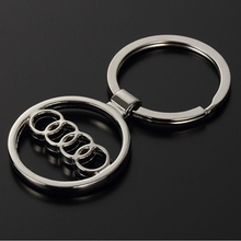 Metal Car Logo Key Rings Keyring Key Chain for Audi keychain car styling key holder