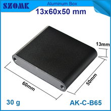 1piece good quality aluminum enclosures 13x60x50 mm in black color protect control box to powder coating smooth surface(China)