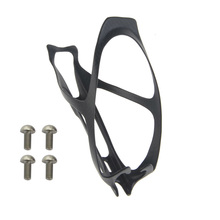 Bicycle Full carbon fibre 3k Water Bottle Cage Mountain Bike Cycling Bottle Holder Ultralight HandleBar Mount+4pcs Titanium Bolt