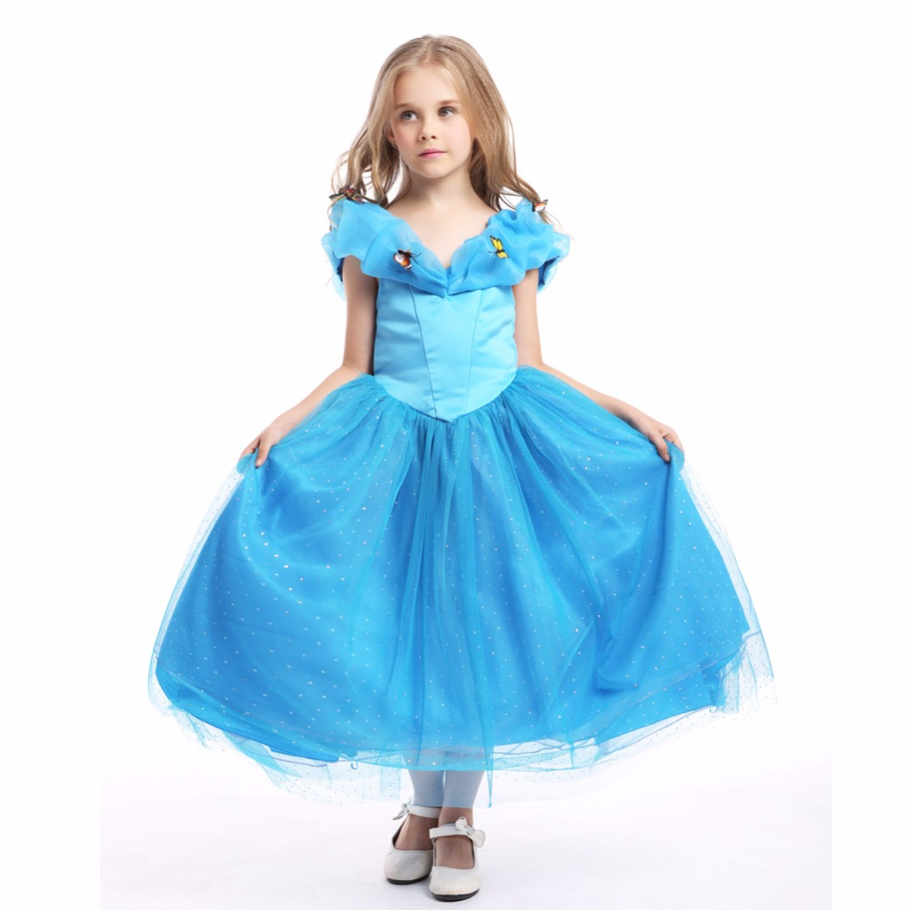 Fashion high quality 6 layers birthday party decorations kids prom dress children short cinderella costume<br><br>Aliexpress