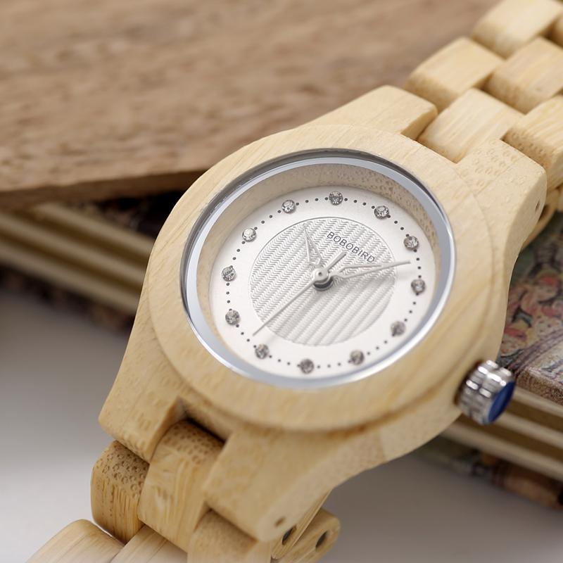 BOBO BIRD Brand Women Bamboo Watches Special Design Watch for Ladies Wood Band Female Quartz Watch relogio feminino DROP SHIPING 14
